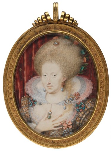 Anne of Denmark by Isaac Oliver, c. 1612 © National Portrait Gallery, London