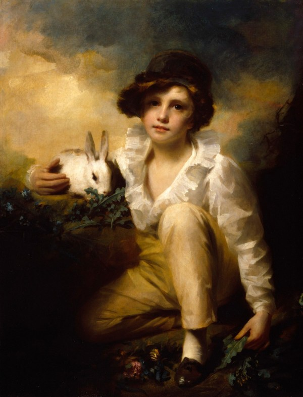 Boy and Rabbit (1814) by Sir Henry Raeburn