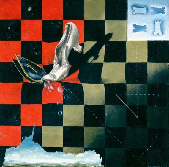 Endgame (1944) by Dorothea Tanning. Courtesy Gertrud V. Parker © DACS 2019