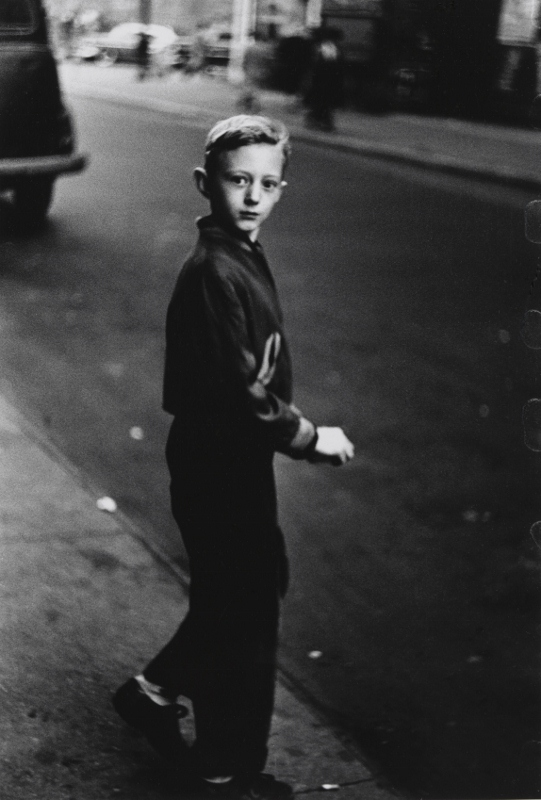 Boy stepping off the curb, N.Y.C. 1957–58 © The Estate of Diane Arbus, LLC. All Rights Reserved