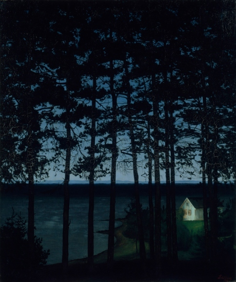 Fisherman's Cottage (1906) by Harald Sohlberg. Art Institute of Chicago