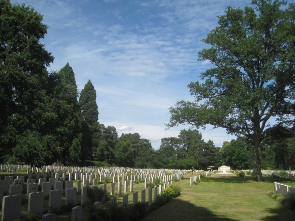 Part of the Brookwood Military Cemetery, Surrey
