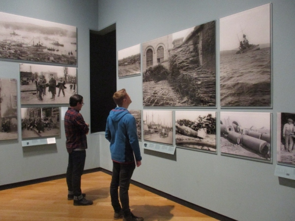 Installation view of Renewal: Life after the First World War in Photograpsh at the Imperial war Museum. Photo by the author
