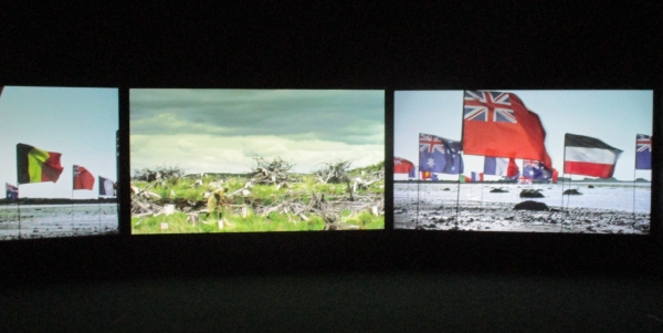 Installation view of a 'modern' segment of Mimesis: African Soldier at the Imperial War Museum, London