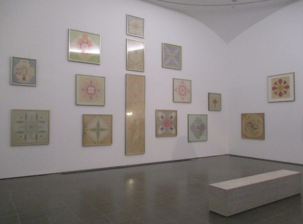 Installation view of Emma Kunz at the Serpentine Gallery. Photo by the author