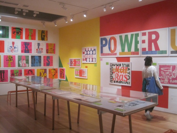 Installation view of Corita Kent at the House of Illustration. Photo by the author