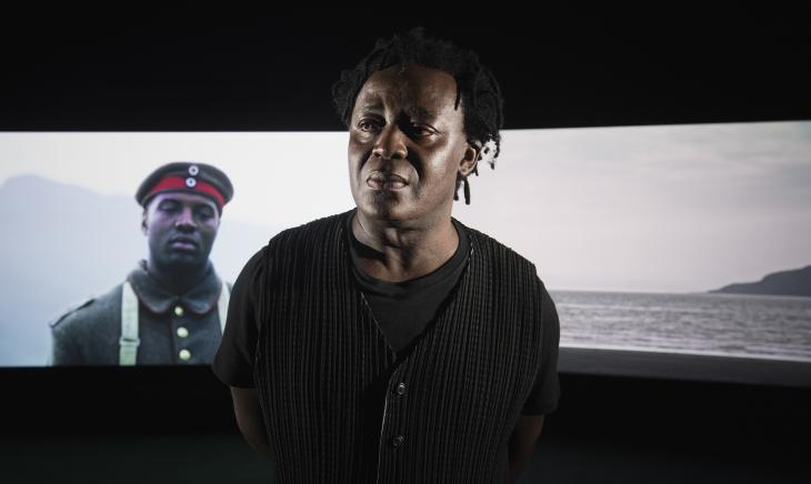 26a3af30036 John Akomfrah in front of Mimesis  African Soldier