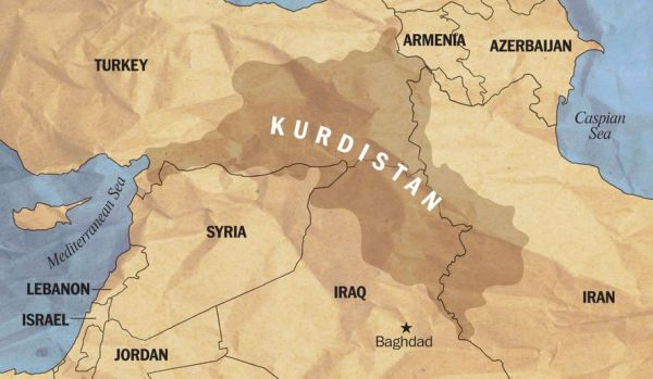 Map of Kurdistan © The Washington Times