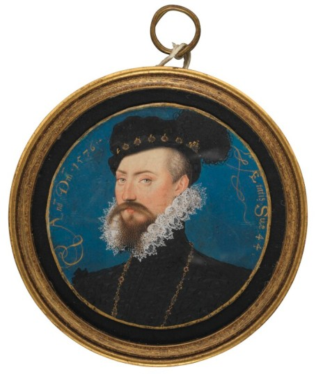 Robert Dudley, 1st Earl of Leicester, by Nicholas Hilliard, 1576