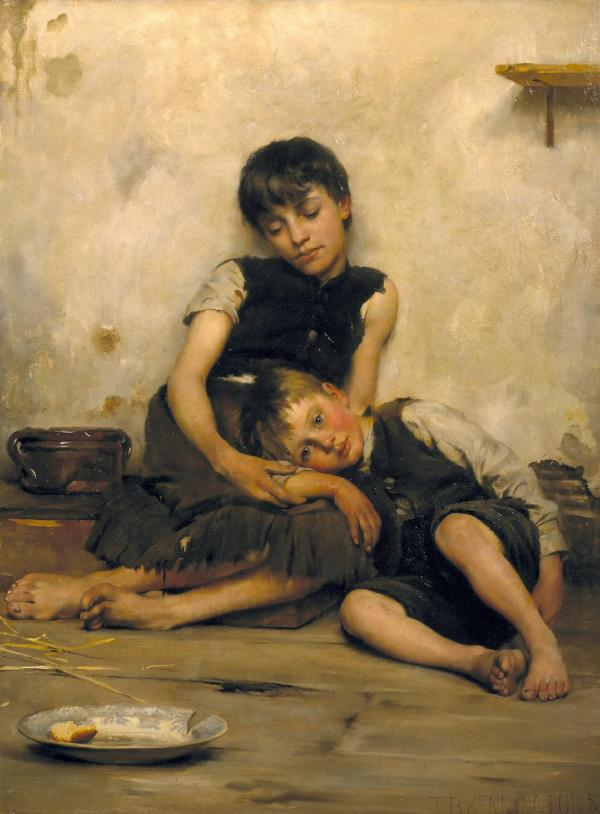 Orphans (1885) by Thomas Benjamin Kennington