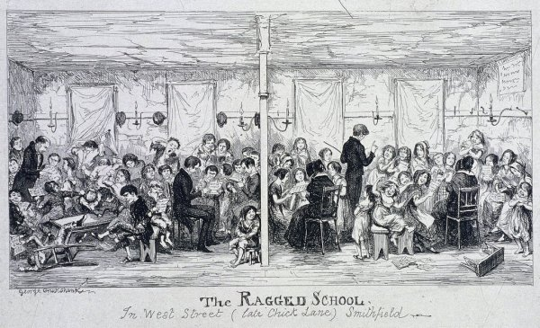 Field Lane Ragged School, London, c1850 by George Cruikshank