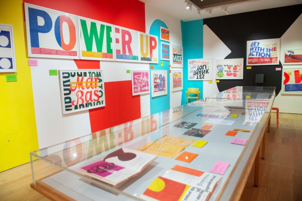 Installation shot of Corita Kent at the House of Illustration. Photo by Paul Grover