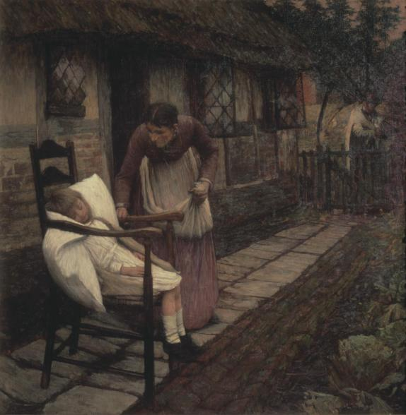 The Man with the Scythe (1896) by Henry Herbert La Thangue