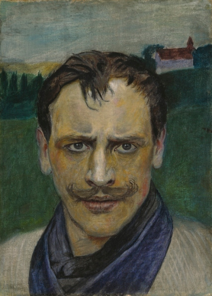 Self Portrait (1896) by Harald Sohlberg. Private collection