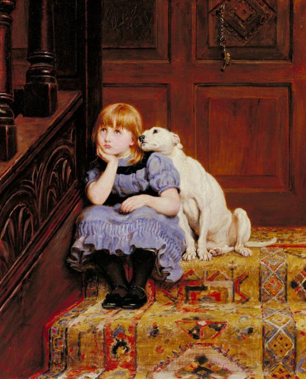 Sympathy (1878) by Briton Riviere