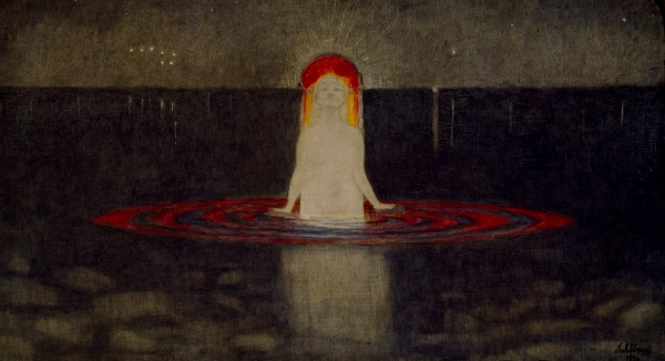 The Mermaid (1896) by Harald Sohlberg. Private collection