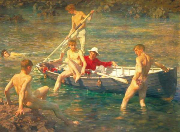 Ruby, Gold and Malachite (1902) by Henry Scott Tuke