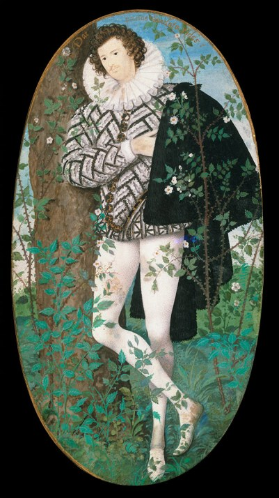 Young Man Among Roses' by Nicholas Hilliard
