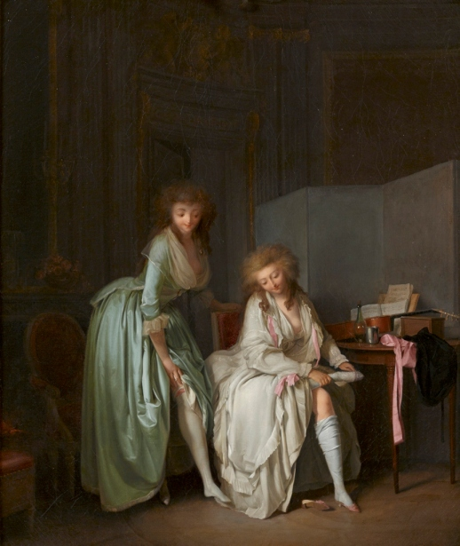 Comparing Little Feet, about 1791 by Louis-Léopold Boilly. The Ramsbury Manor Foundation. Photo © courtesy the Trustees