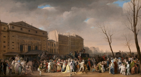 A Carnival Scene (1832) by Louis-Léopold Boilly. The Ramsbury Manor Foundation. Photo © courtesy the Trustees