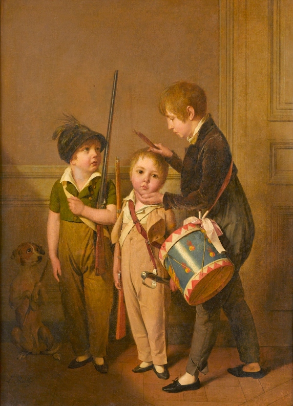 My Little Soldiers (1804) Louis-Léopold Boilly. The Ramsbury Manor Foundation. Photo © courtesy the Trustees
