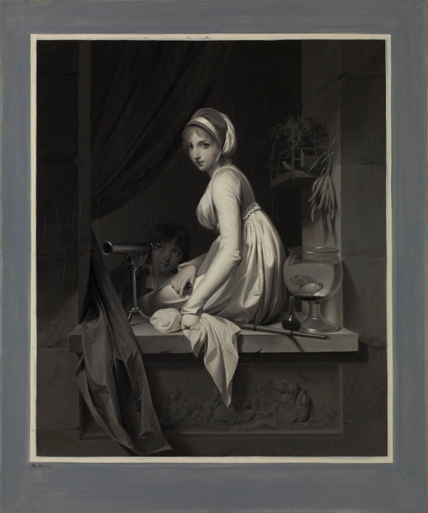 A Girl at a Window (after 1799) by Louis-Léopold Boilly © The National Gallery, London